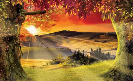 Giant non-woven wallpaper mural Landscape Italian Sunset 2599